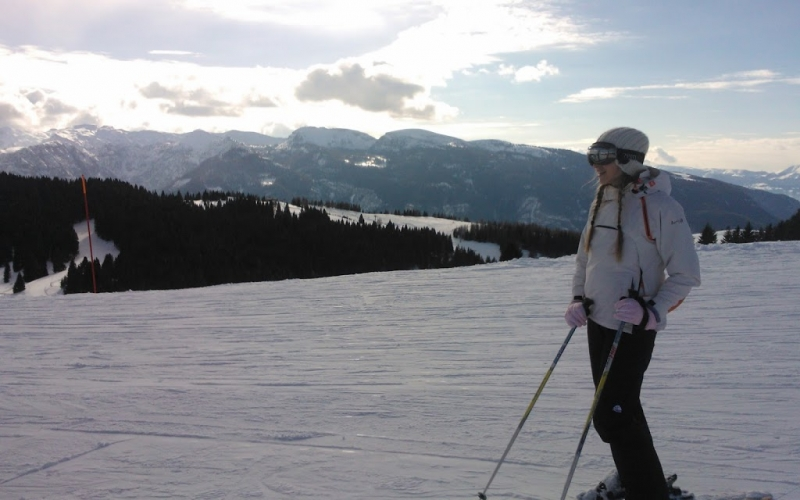 Skiing adventure in Folgaria