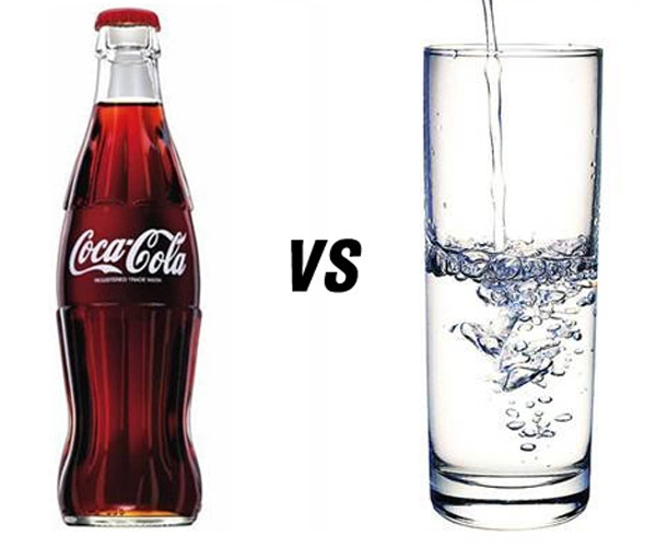 Diet: Water vs. Coke