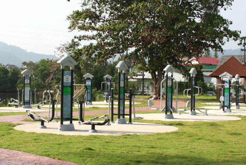 Exercise machines at Phuket