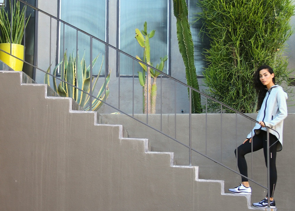 HIIT exercise using stairs