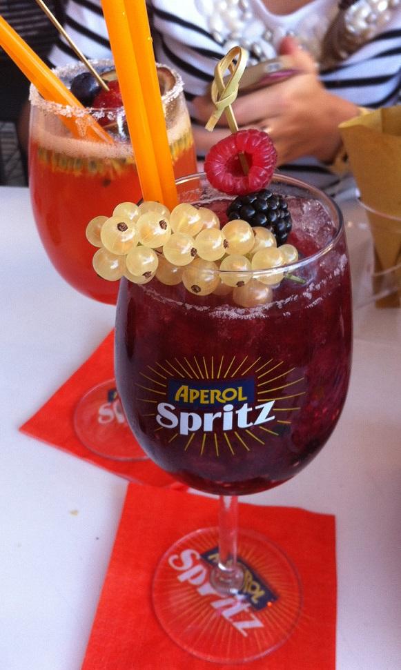 Choose alcohol free-sugar/syrup free fruit cocktail