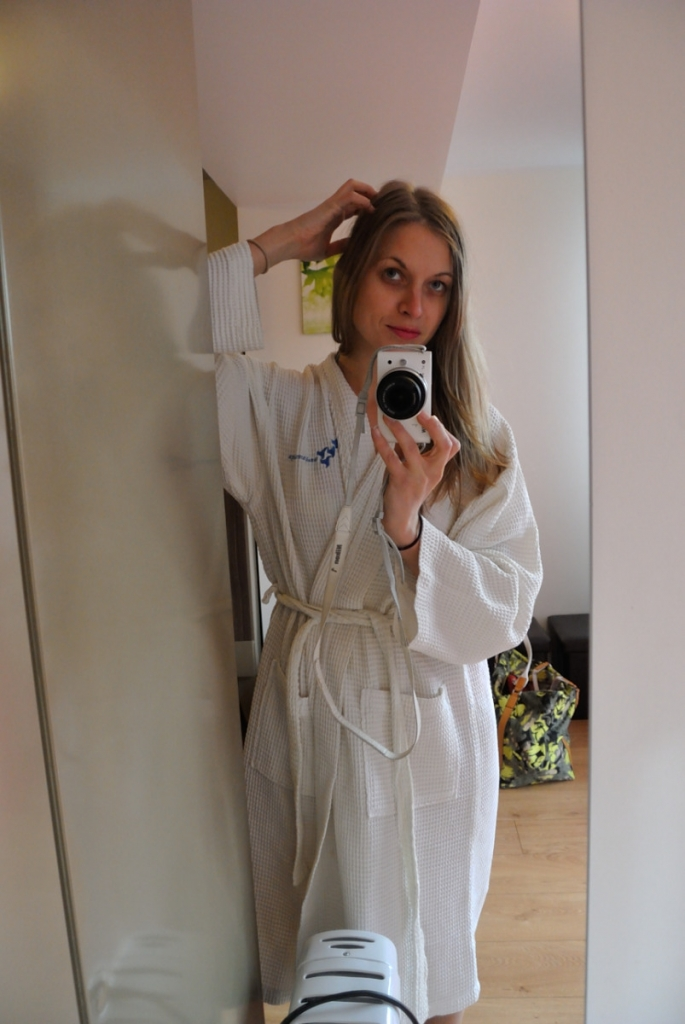 My gloving selfy in Jurmala Spa bathrobe