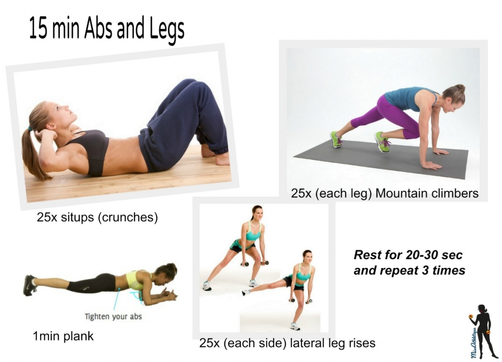 15 min workout - Abs & Legs