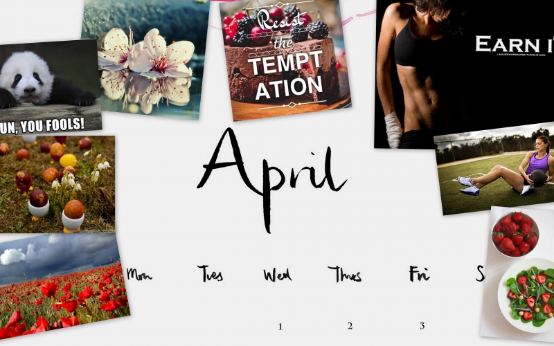 Moodboard: April is the month of fitness and dedication