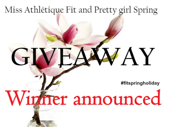 And the Fit Spring Giveaway winner is…