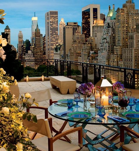 My dream is to have a terrace for romantic dinner or cozy breakfast