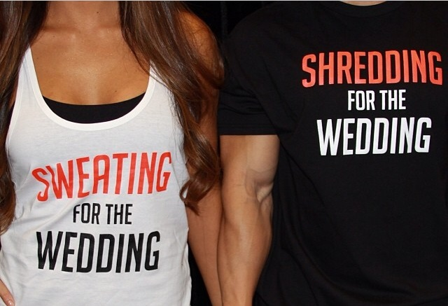 matching gym pre-wedding tshirts