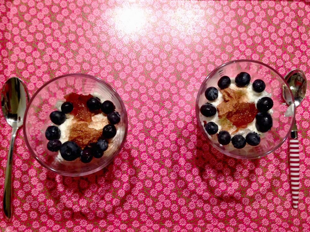 decorate with couple of blueberries