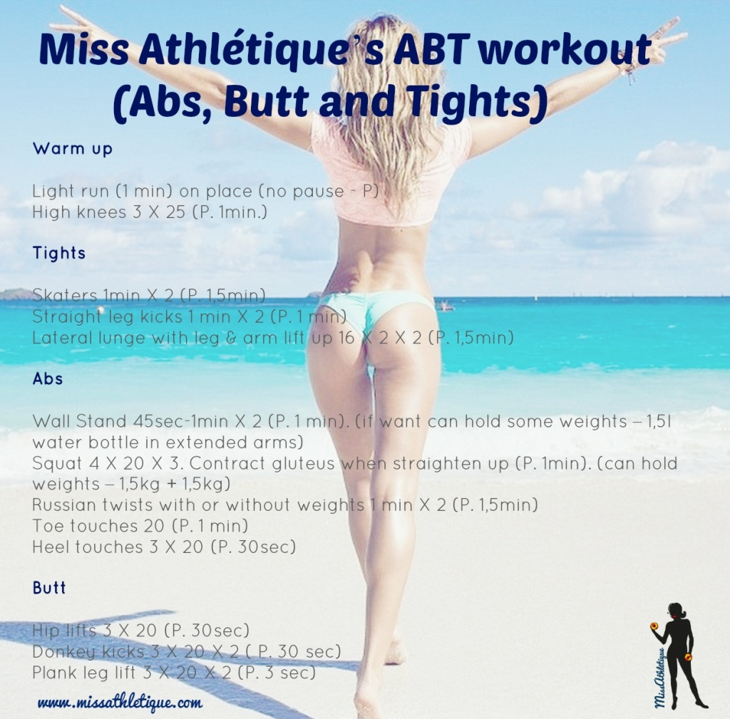 ABT workout you can do everywhere to tone your abs, butt and tights