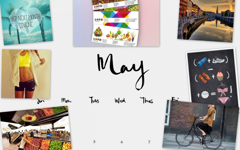 Visual board: Welcome May! Challenge accepted!