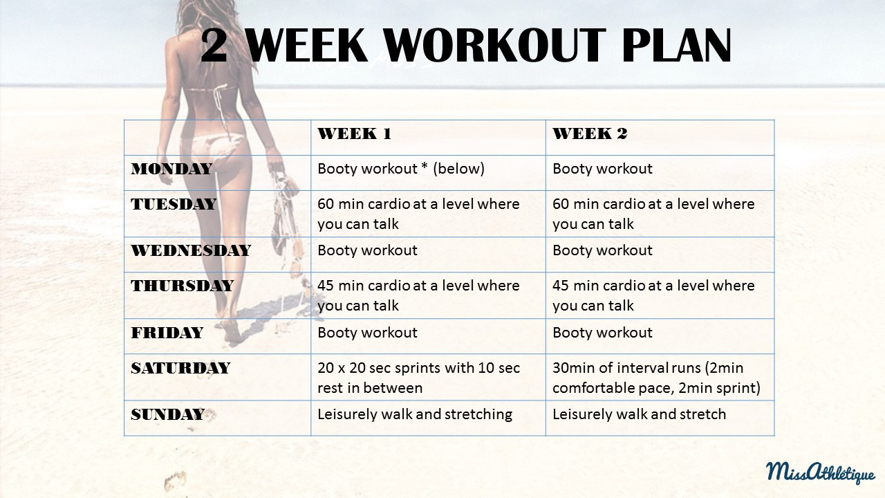 Workout 2 Week Workout Plan To Shape Up Your Booty Miss