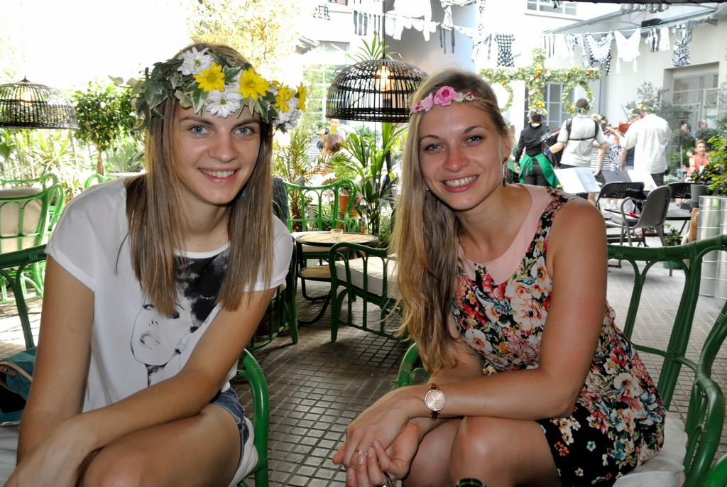 me and Maija who already had a flower crown