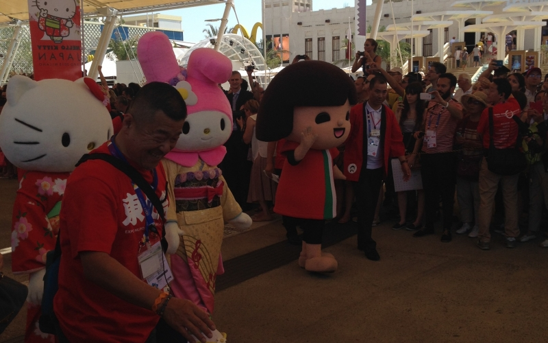 Hello Kitty coming to Expo Milan 2015 or Japan Day in pictures