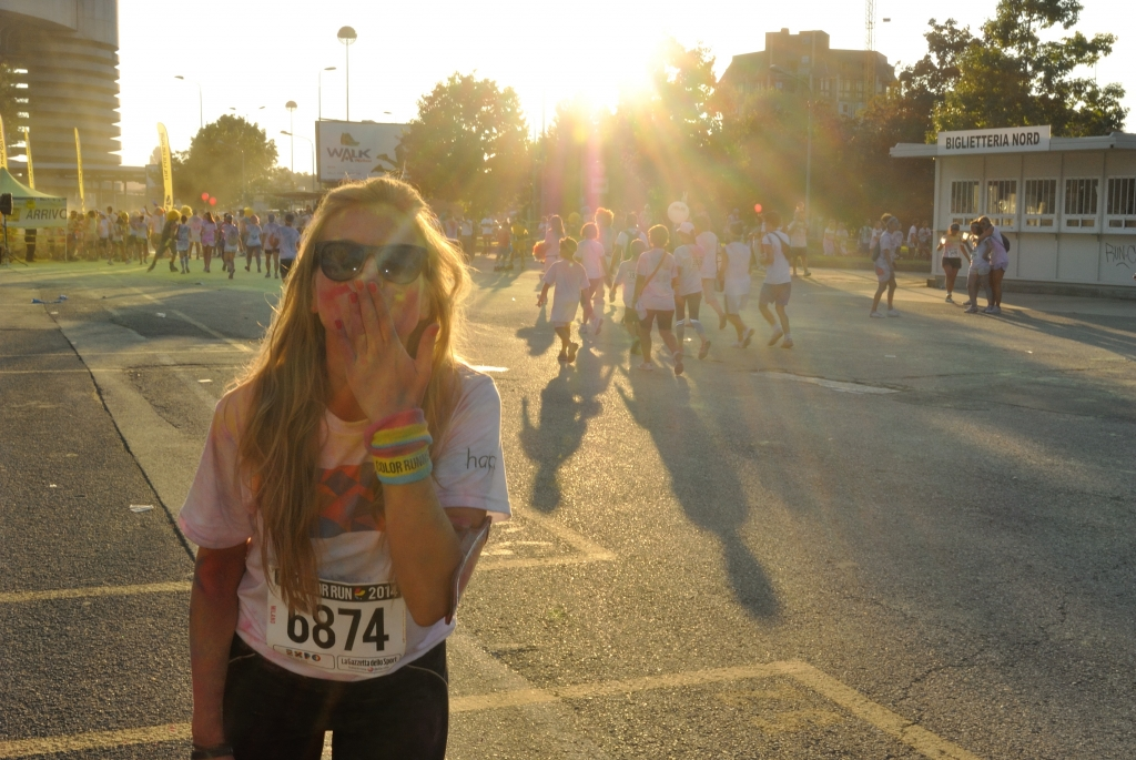 My sunny color run finish