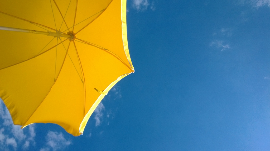 My yellow beach umbrella
