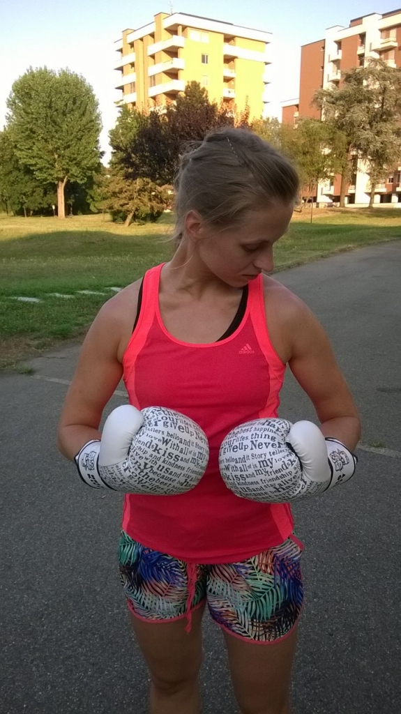 After my Muay Thai (Thai kick box) lesson in park