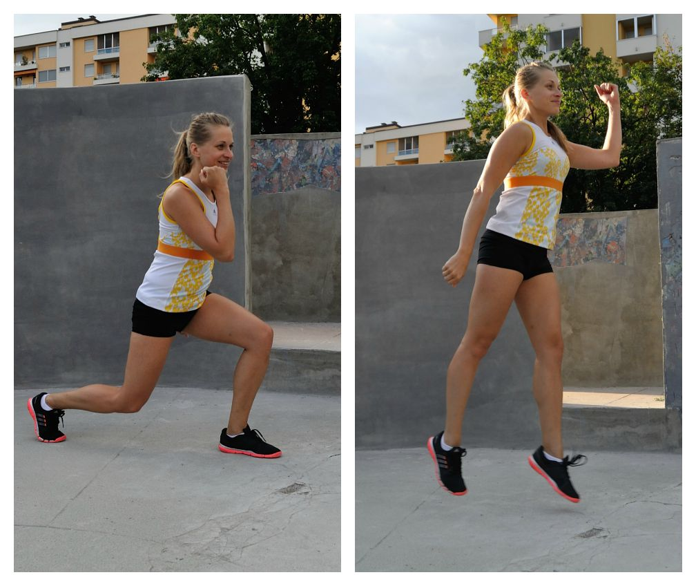 Move 4 - jumping split squat max out