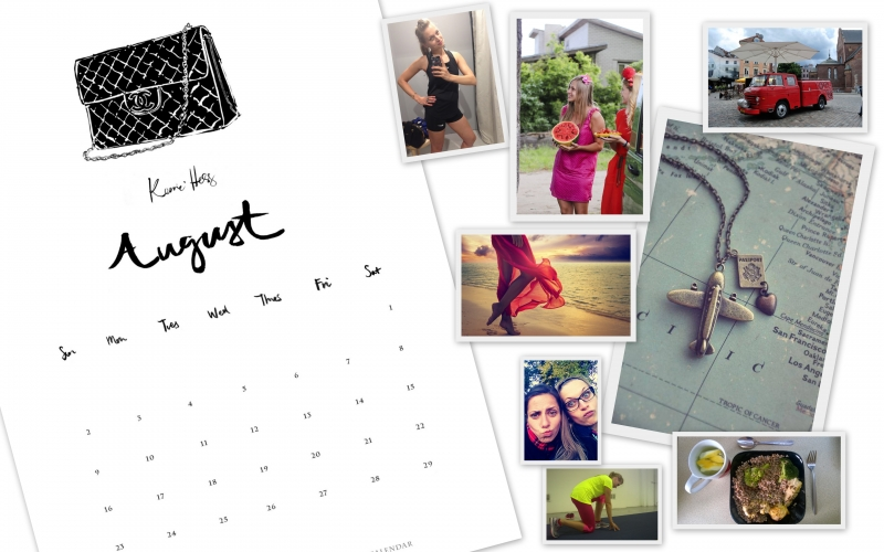 Busy as a bee August visual board