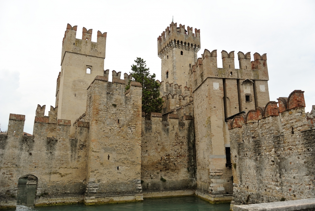 Sirmione medieval castle at Garda lake
