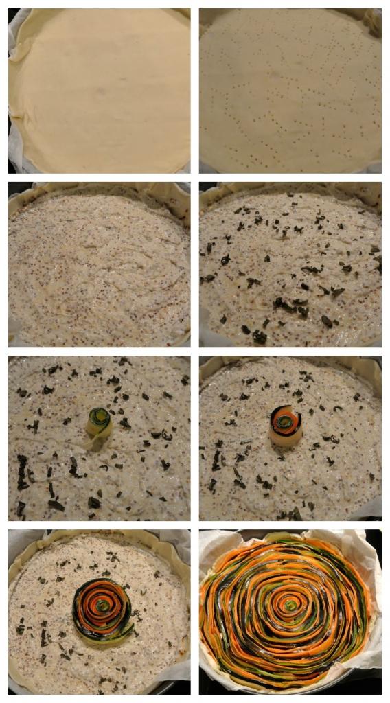 Spiral cake preparation - step by step