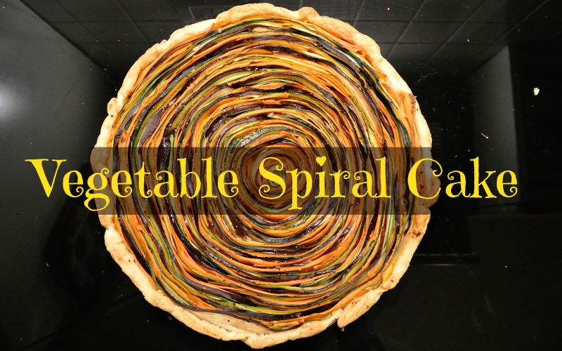 Colorful and Healthy Vegetable spiral cake