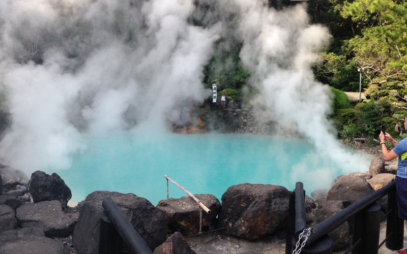 Vistiting wonderful hot springs of Beppu for the first time
