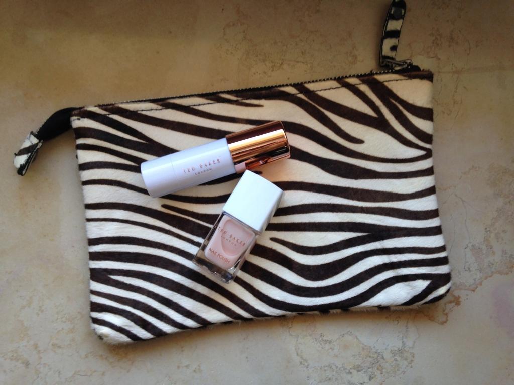 Ted Baker nail polish and Zara bag
