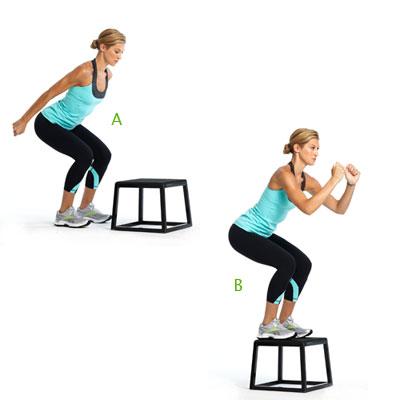 Box squat jump