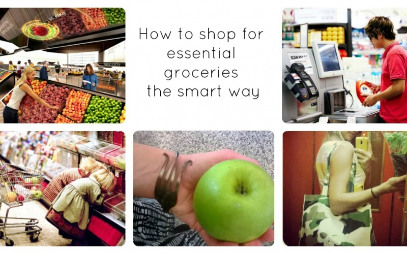 How to do essential grocery shopping smart