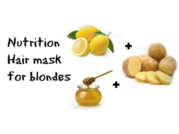How to make a nutrition hair mask  for blondes at home