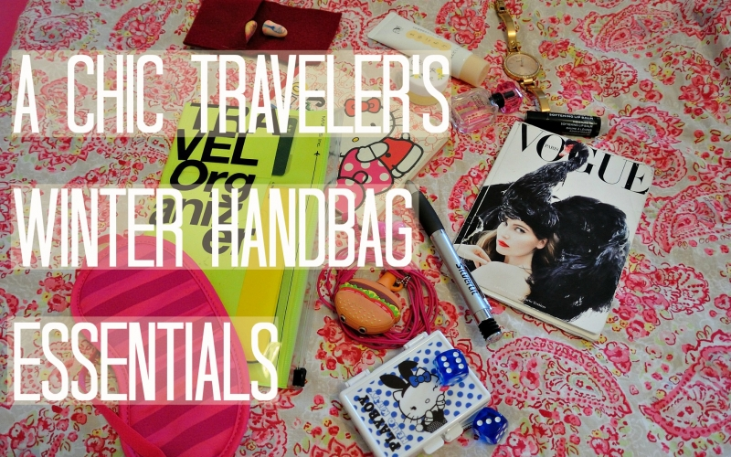 What's in the handbag of a chic traveler