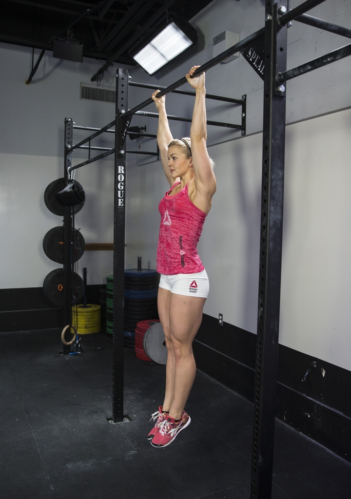 Pull-up bar Hanging stretch. Photo credit-  Totactive