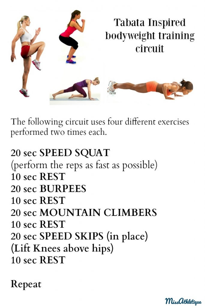 4 minute Tabata-inspired training routine