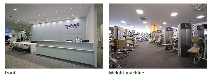 Front desk and full range weight machines