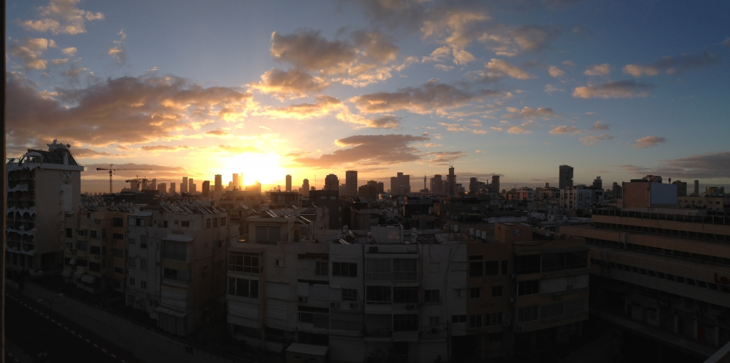 Sunrise over Tel Aviv by Miss Athètique