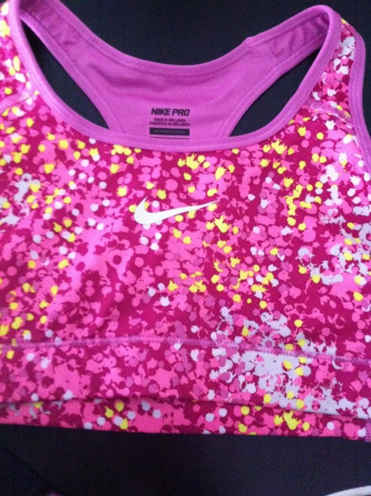 Nike pink sports bra