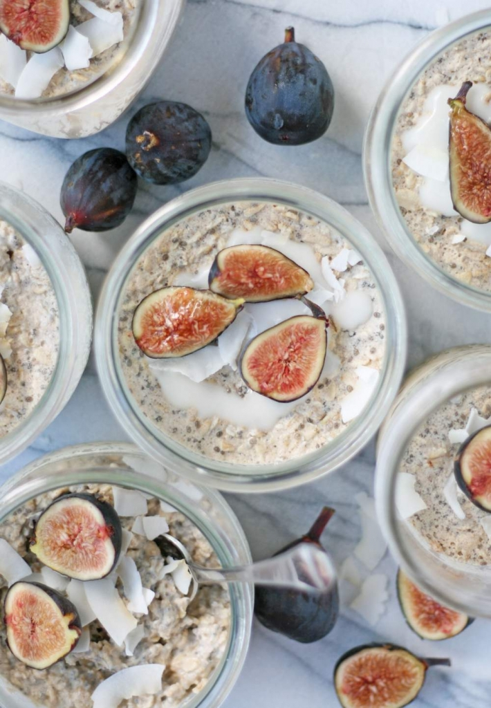 overnight oats with chia seeds recipe | www.missathletique.com