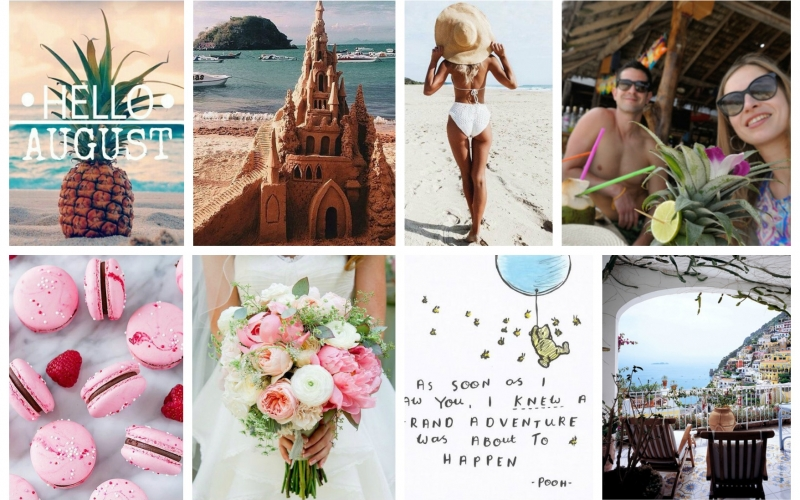 August mood board or pack your bags, pals!