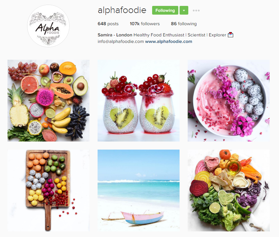 Colorful - @alphafoodie