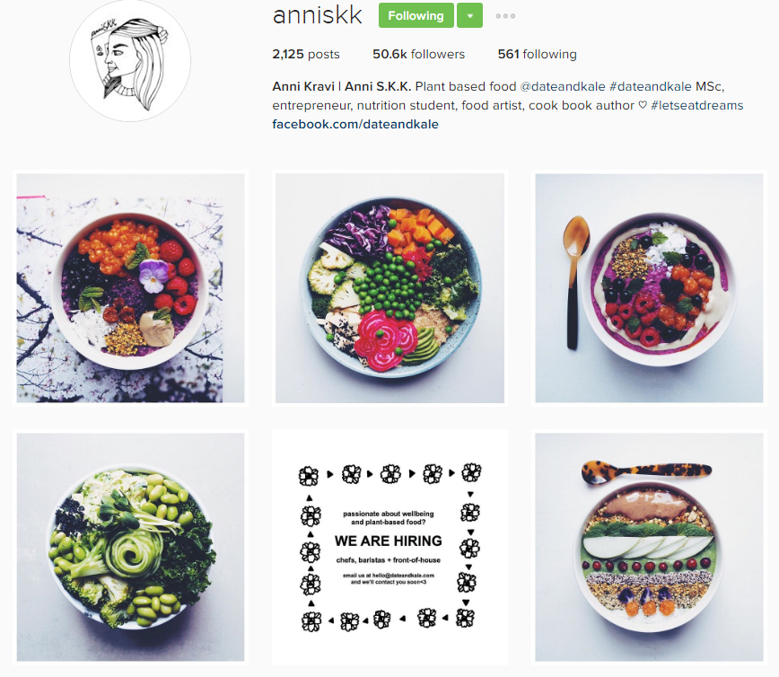 A bowl recipe master - Anni as Anniskk on Istagram