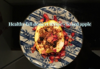 Healthy fall dessert recipe -how to make baked apple