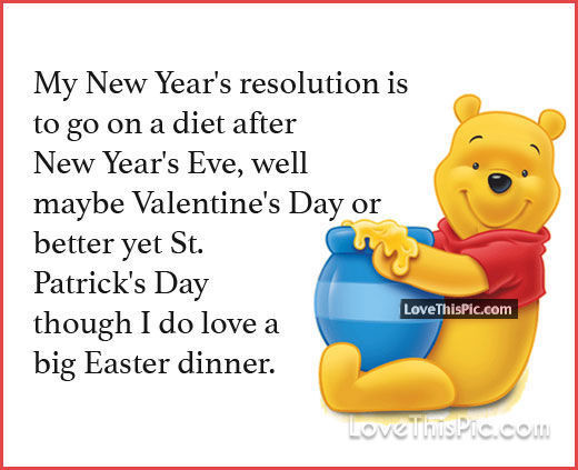 Winny the Pooh Resolutions