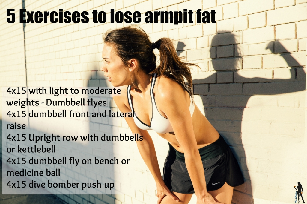 5 exercises to loose armpit fat