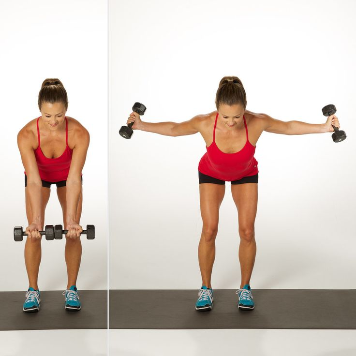 flying dumbbells exercise
